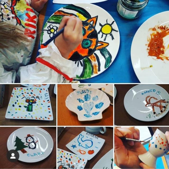 Atelier peinture sur porcelaire